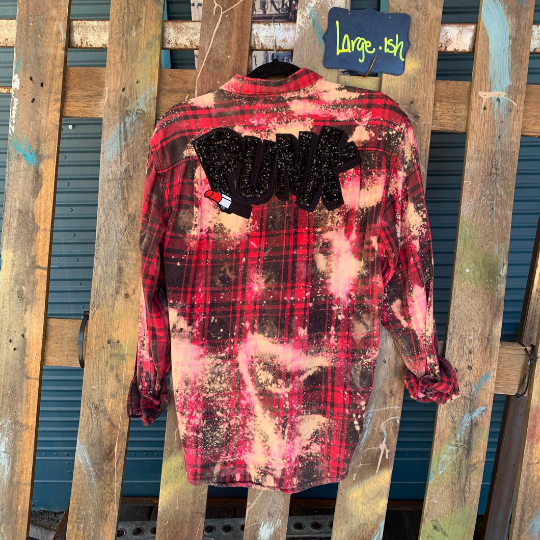 Large Punk Sequin Appliquéd flannel