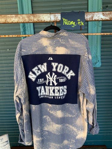 XXL Yankees Patch flannel