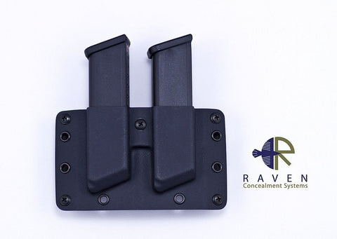 Raven Concealment Double Modular Pistol Mag Carrier (Wolf Grey)