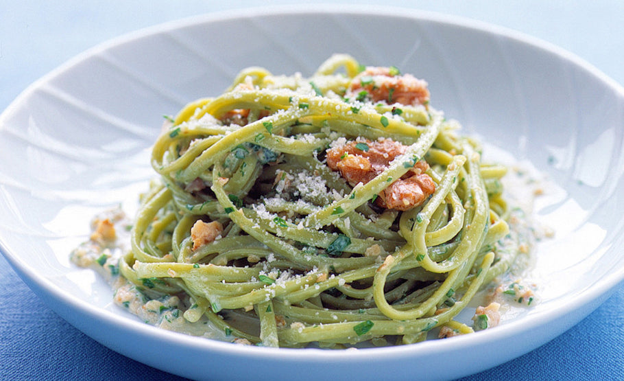 Weekly Recipe: Spicy Spinach Linguine with Olive Oil and Garlic