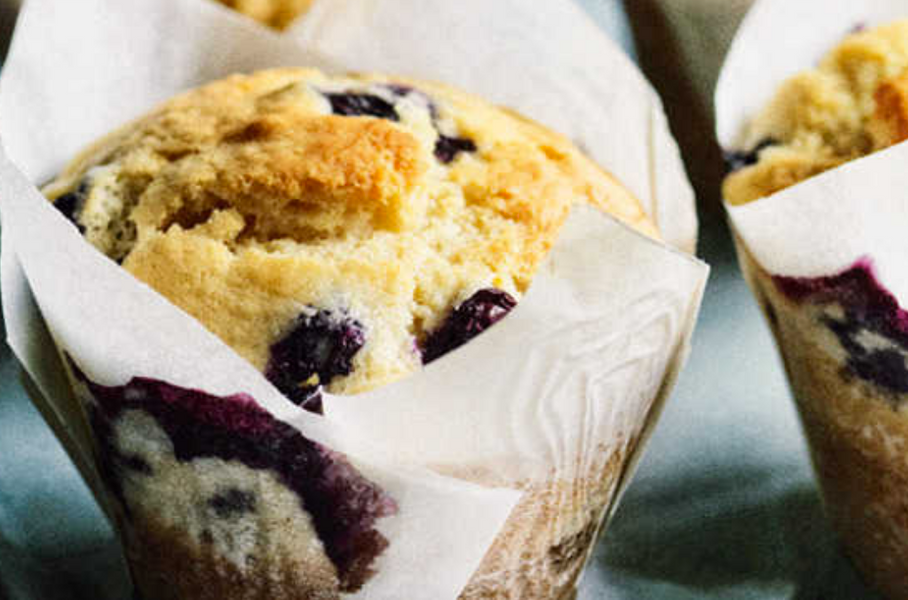 Weekly Recipe: Blueberry, Lemon & Olive Oil Muffins