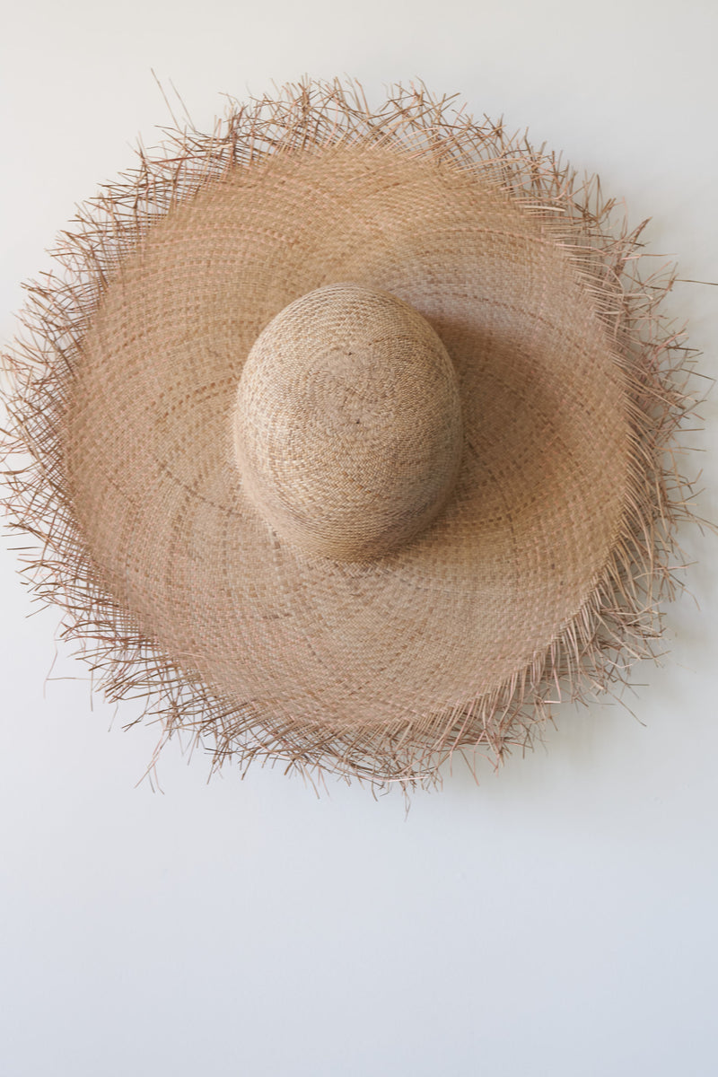 Handwoven Palm Sun Hat (Color Coconut Shell)