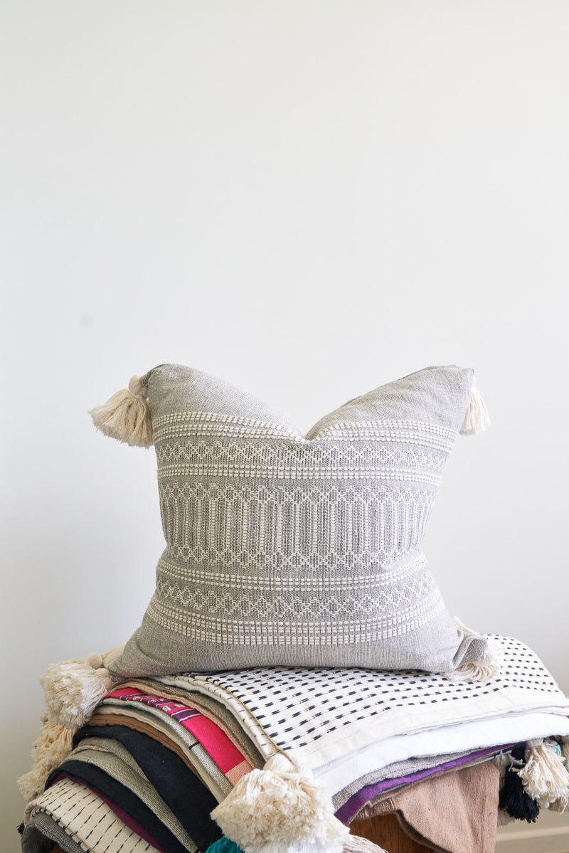 Oaxaca Throw Pillows with Tassels (various colors and patterns)