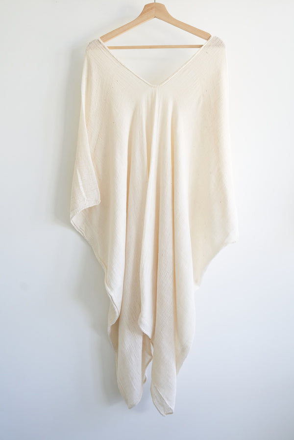 Khadi Oaxaca Kaftan short (Natural White)
