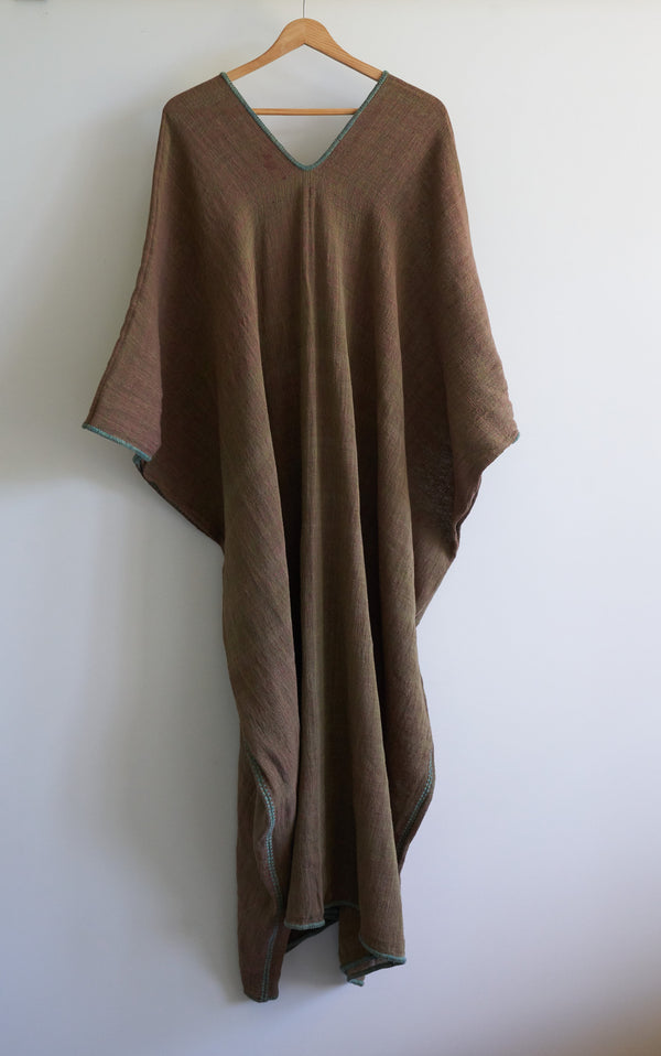 Sierra Oak Bark Kaftan by Khadi Oaxaca (Long)