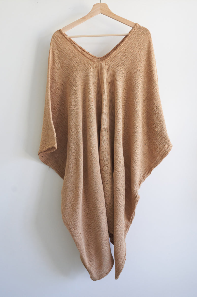 Khadi Oaxaca Kaftan Short (Pale Oak Bark)