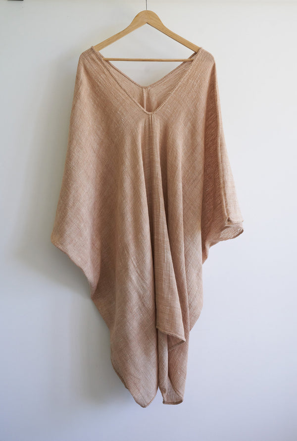 Pale Oak Bark Kaftan by Khadi