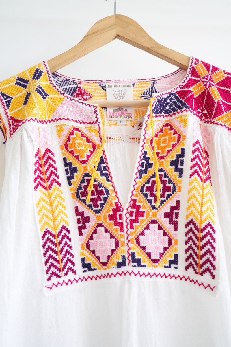 The JM + San Vicente Embroidered Blouse - Multi color