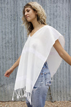 White on White Poncho Cover-Up