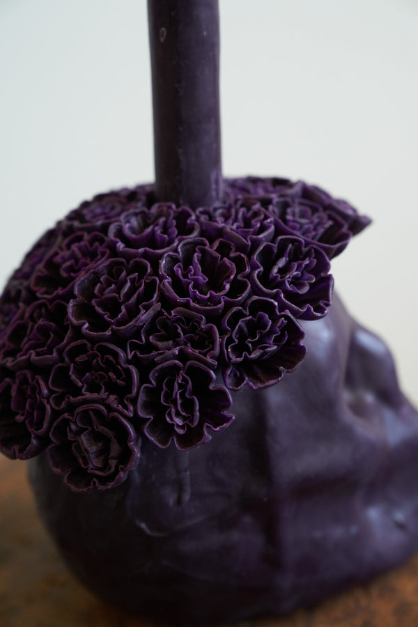Skull Candle (Color Eggplant)