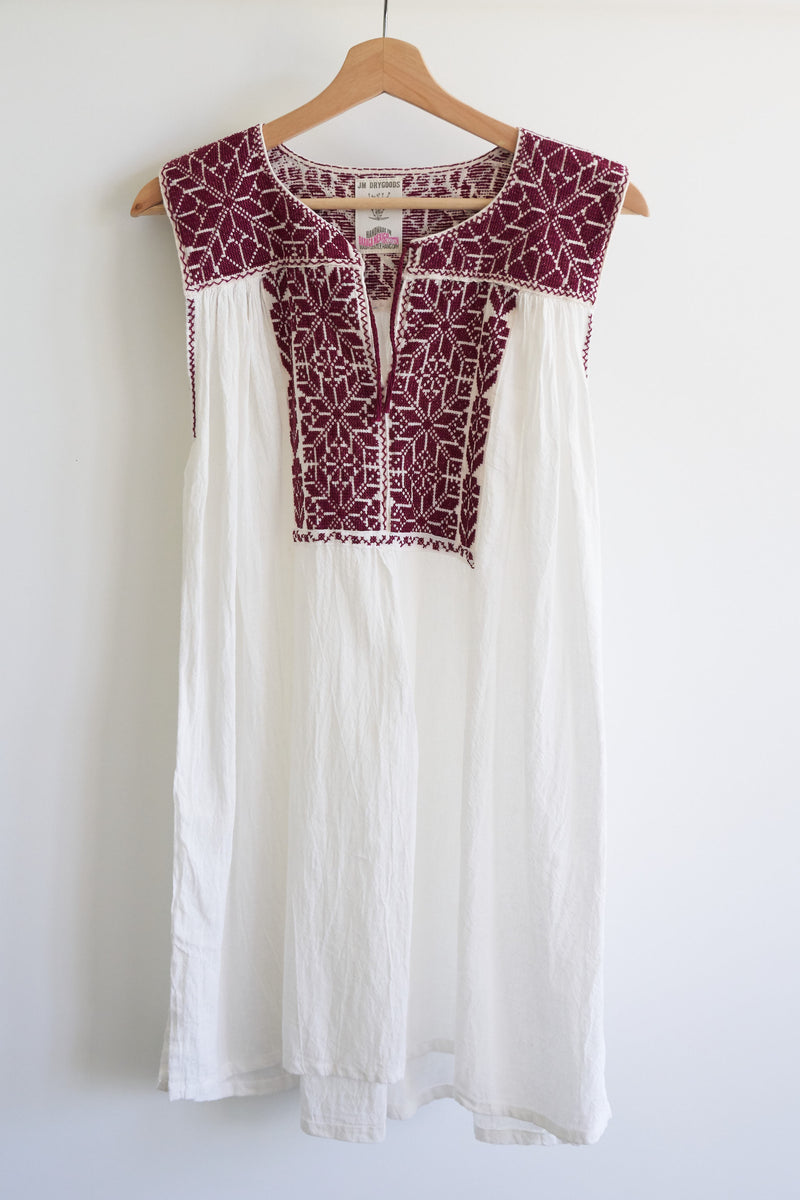 JM + San Vicente Sleeveless Blouse/Tunic (Color Wine)