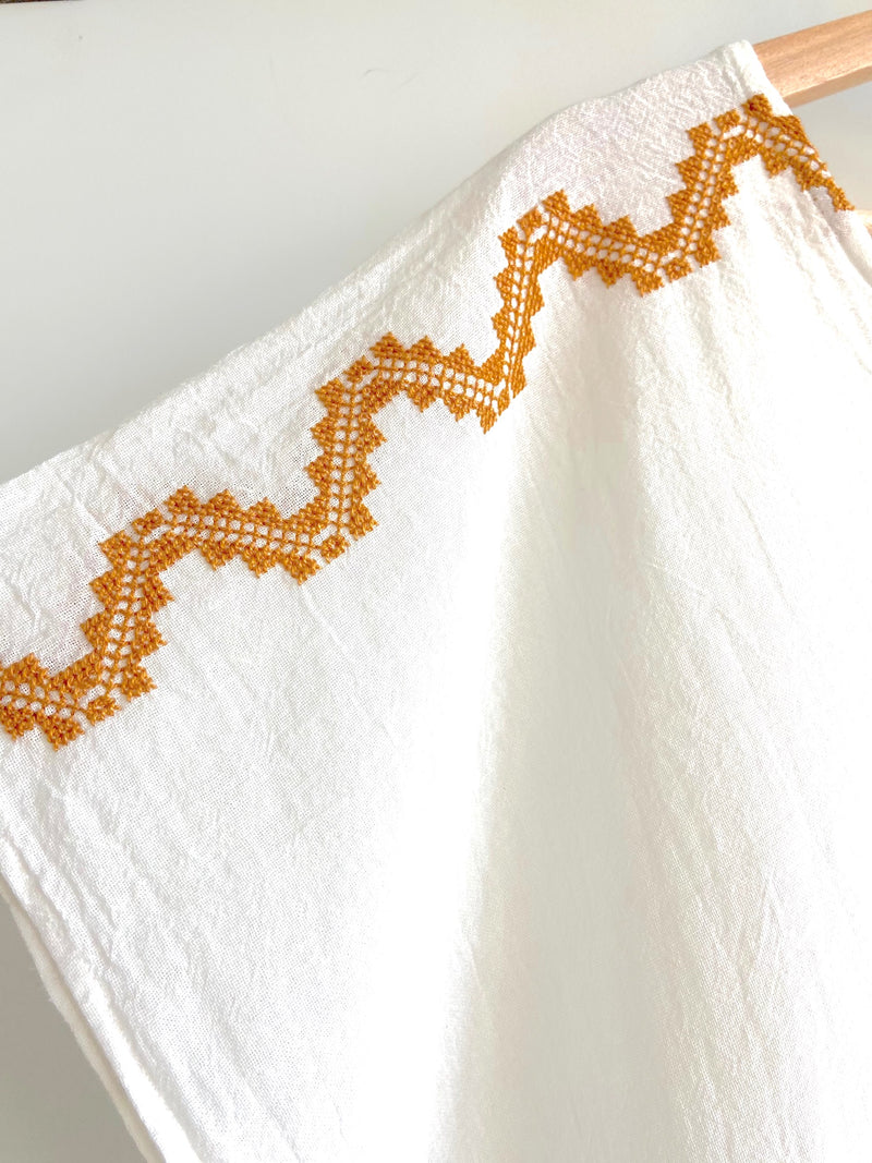 JM + San Vicente Embroidered Long Sheer Tunic (Copper Snake Embroidery)