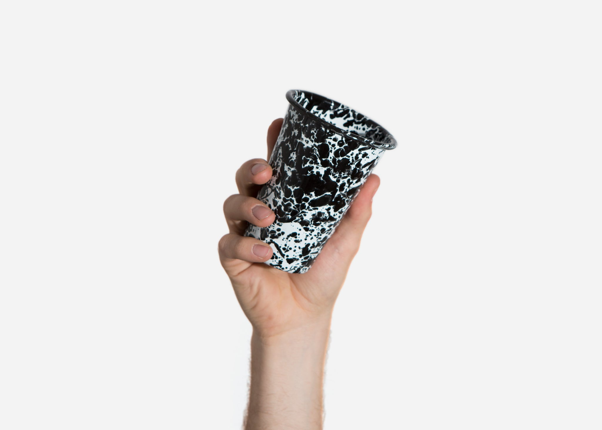 Black Splatterware Cup
