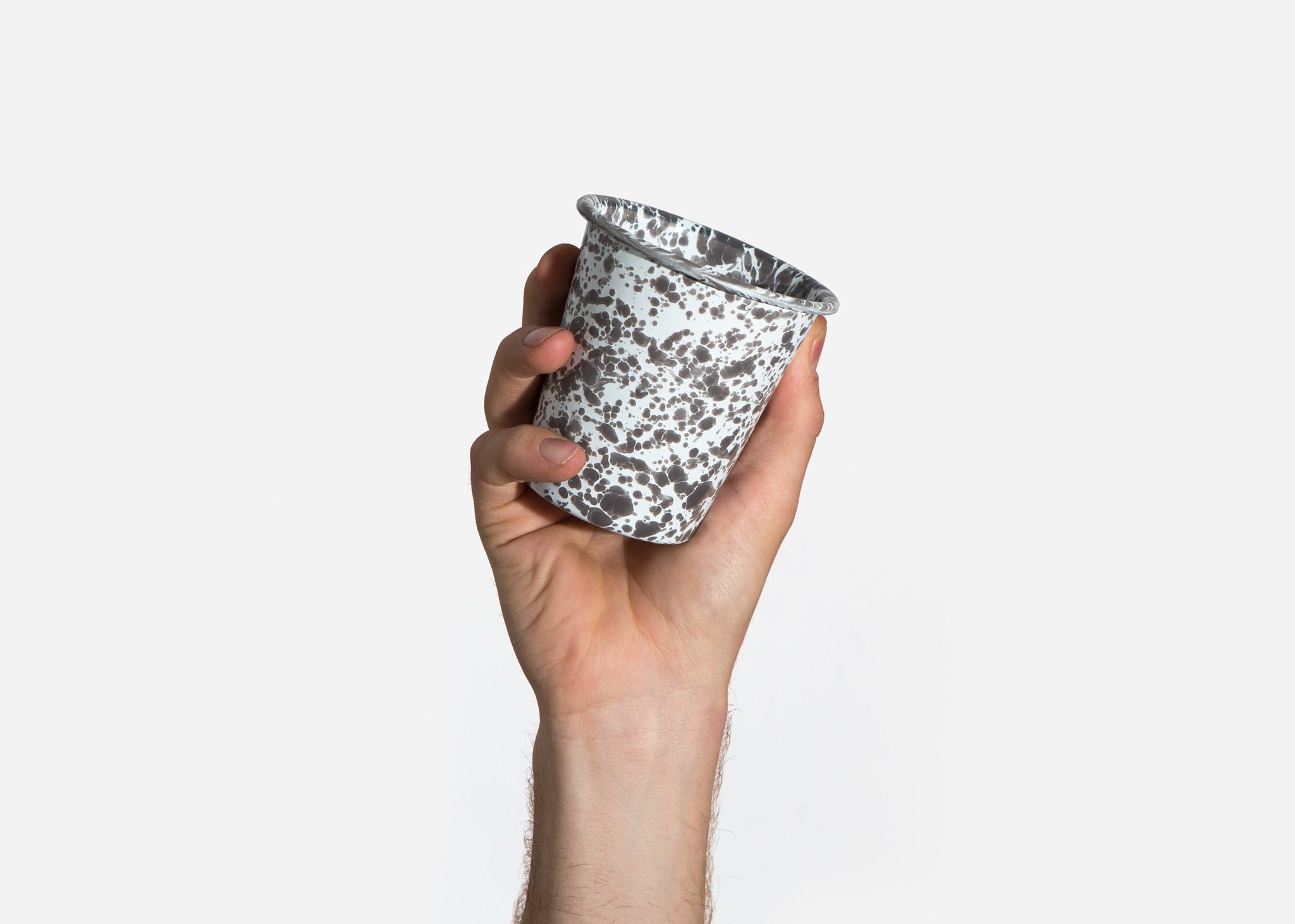 Grey Splatterware Cup