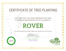 Rooted Pet Memorial | Tree Planting Certificate - Electronic