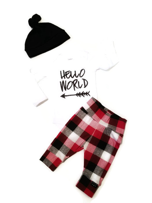 Bringing Home Baby - Hello World - Urban Baby Apparel