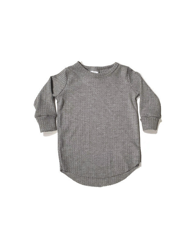 Waffle T-shirt - Heathered Grey - Urban Baby Apparel