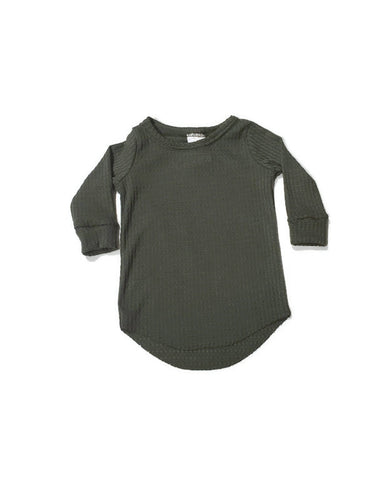 Waffle T-Shirt - Olive - Urban Baby Apparel