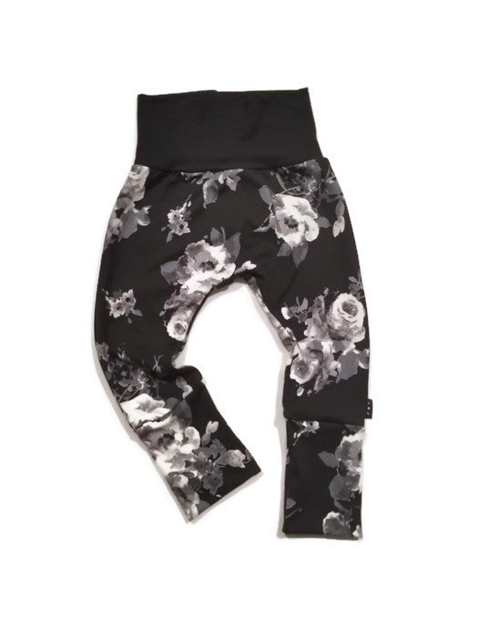 Grow Along Joggers - Monochrome Floral