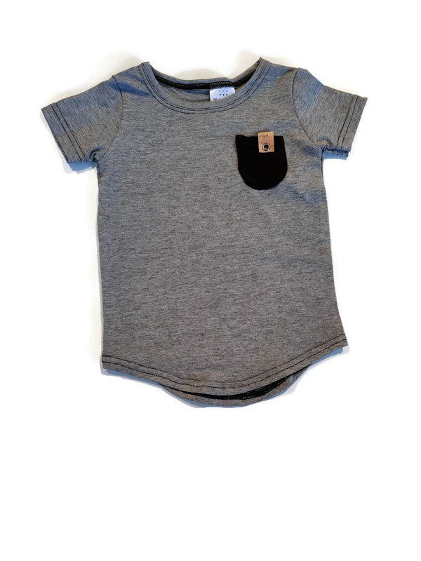 Bamboo Basics - Scoop Hem Tshirt Grey - Urban Baby Apparel