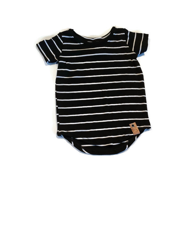 Bamboo Basics - Scoop Hem Stripes - Urban Baby Apparel