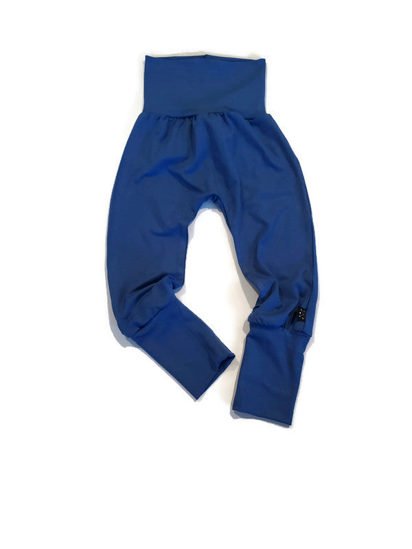 Grow Along Bamboo Joggers - Classic Blue - Urban Baby Apparel