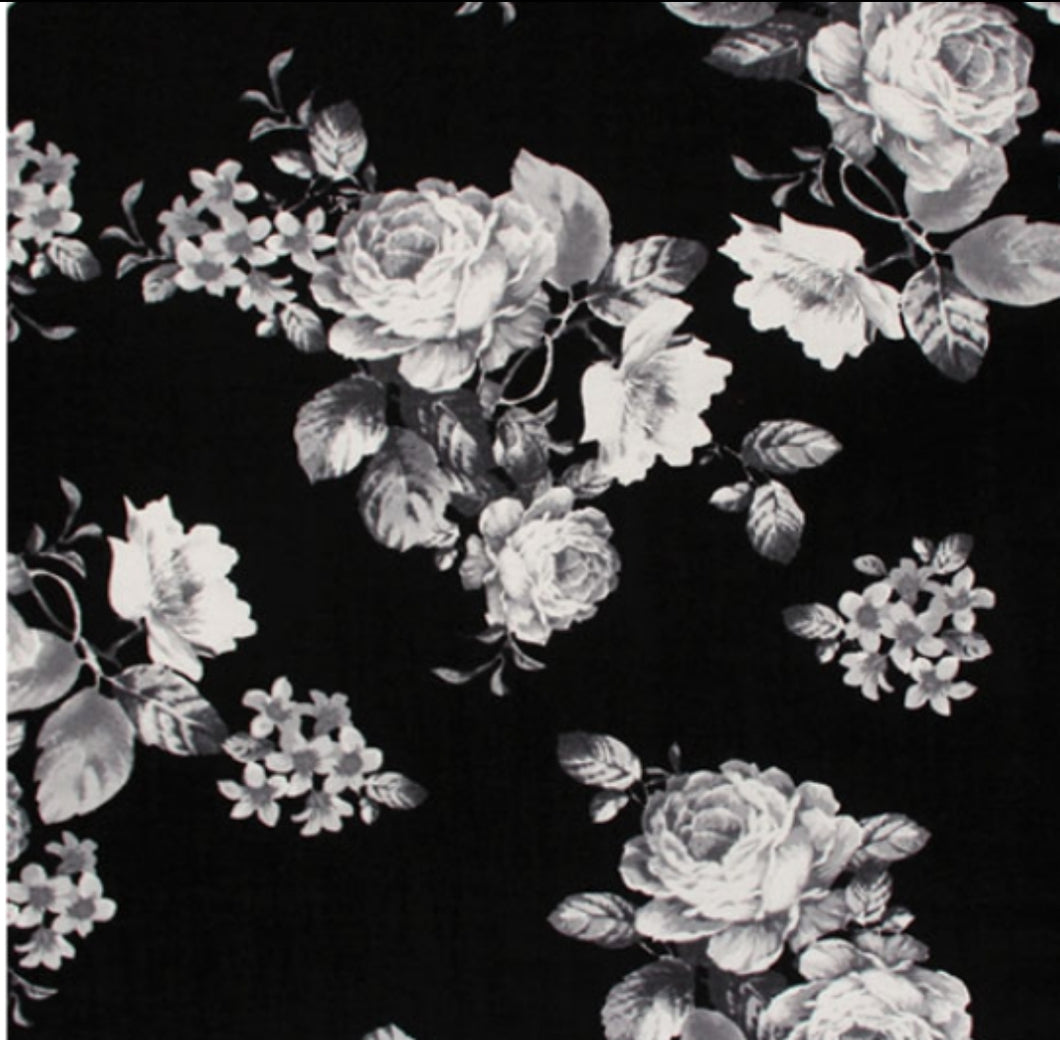 Monochrome Floral - Urban Baby Apparel