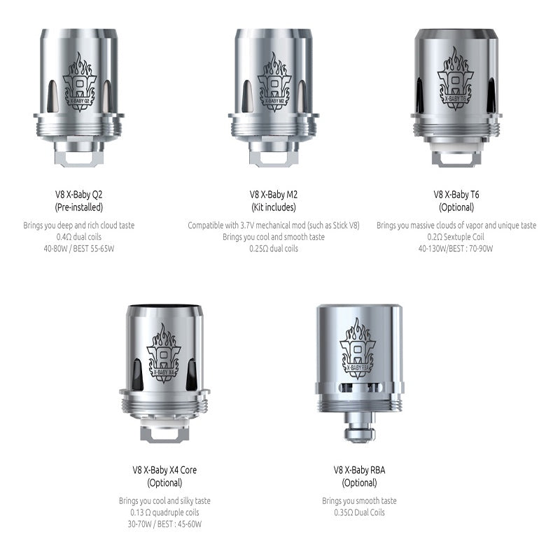 SMOK V8 X-BABY COILS - Bang Bang Vapes & Smoke Shop
