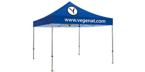 One and Two Color Logo 10 x 10 Foot Custom Canopy Tents