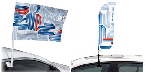 Custom Printed Car Flags - Many Shapes And Sizes