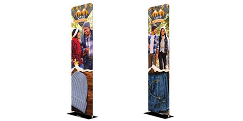 Double Sided Fabric Displays
