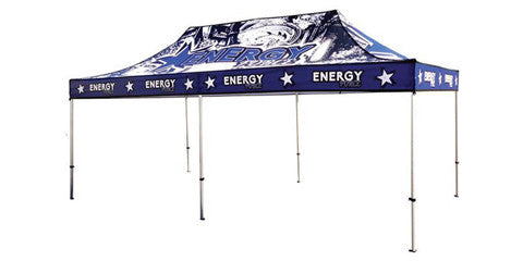 Full Color Logo 20 x 10 Foot Custom Canopy Tents