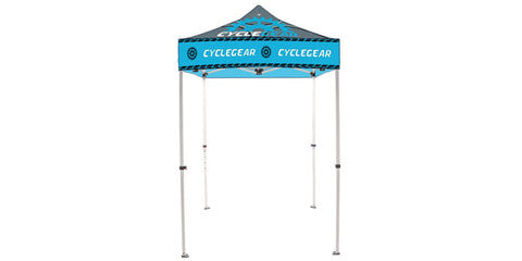 Full Color Logo 5 x 5 Foot Custom Canopy Tents