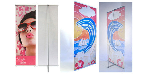 L Stand Vertical Banner Displays