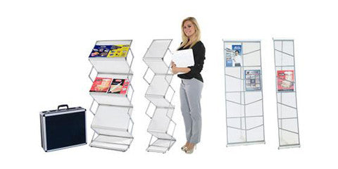 Literature Stands & Magazine Collateral Rack Stand Displays