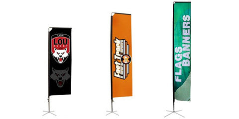 Mamba 10.125 Foot to 16.8 Foot HUGE Outdoor Flag Banner Displays