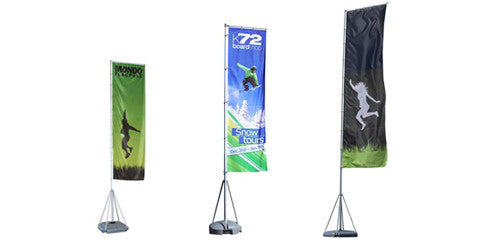 Mondo 13,17 and 23 Foot Tall  GIANT Outdoor Flag Displays