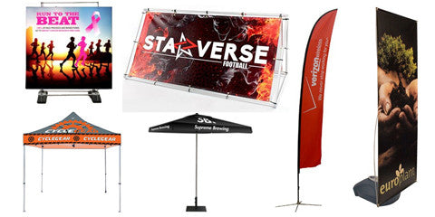 Outdoor Displays, Flags and Stands