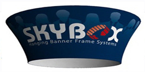 Tapered Circle Hanging Banner Displays
