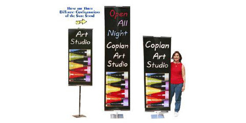 Double-sided Non-Retractable Banner Stands