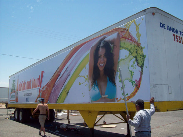 Box Truck Using Ackland Media Banner Frame System