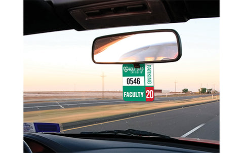 Rearview Mirror hanging decal hang tag sticker