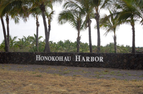 Honokohau Harbor fabricated signs after install from Lets Go Banners
