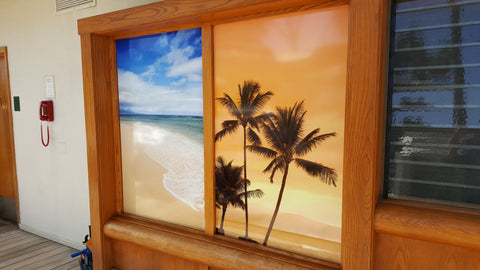 Window Vinyl Cover Hilton Waikoloa Big Island Hawaii