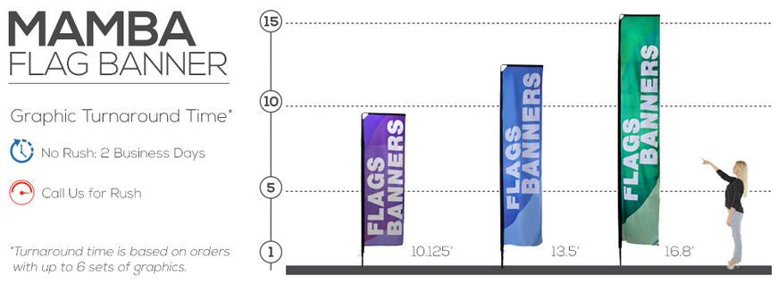 Mamba Large Flag Size Reference Chart