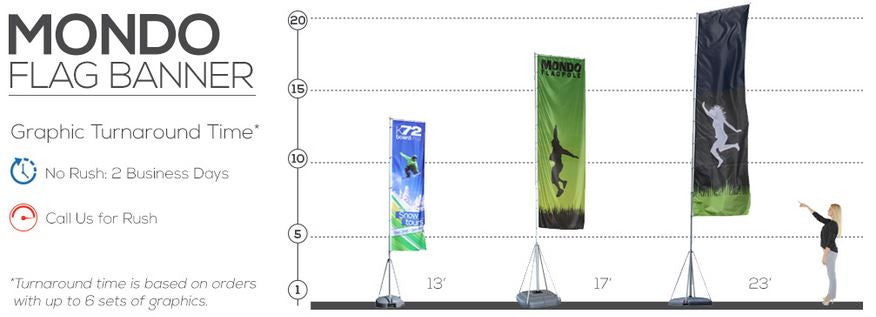 Mondo Flag Size Reference Chart