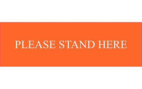 please stand here floor graphic social distance decal sticker label