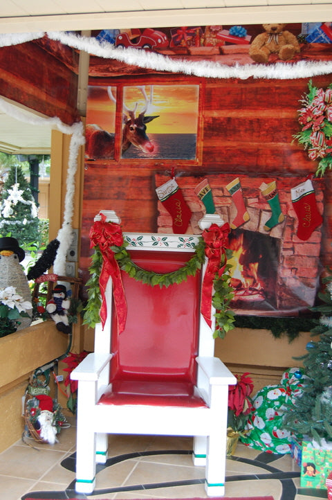 Santa House made from Vinyl