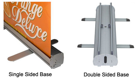 Single Sided and Double Sided Retractable Banner Stand Base Pictures