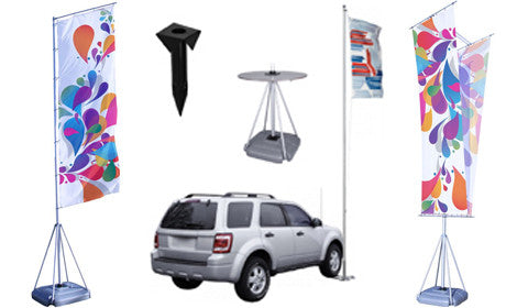 T Pole Flag Displays and Accessories